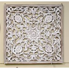 wood carved wall panel upscale consignment