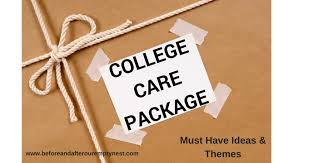 college care package college care package must items and themes before after