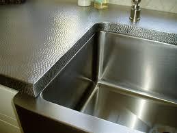 kitchen 3 hammered stainless steel kitchen countertop good