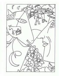 marc chagall coloring pages famous artist coloring pages