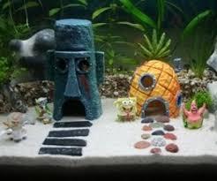 Home Aquarium Decorations The Spongebob Aquarium Set Features Spongebob Patrick Gary Mr