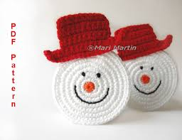crochet coaster snowman crochet coaster snowman and crochet