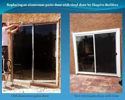 New Patio Doors Replacement Of Aluminum Patio Door With Vinyl Door