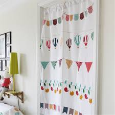 fuya kitchen restaurant decorative half curtain fresh fabric style