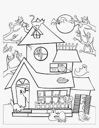 haunted mansion coloring pages houses to color and print for