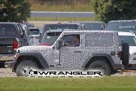 jeep wrangler 2 door hardtop spied wrangler 2 door jl rubicon soft top and export jl sport