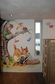 best 25 disney wall murals ideas on pinterest disney themed bambi stampertje bloem muurschildering disney more