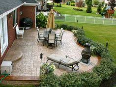 Backyard Patios Ideas Yard Design Ideas Front Patio I Love The Idea Of A Low Wall