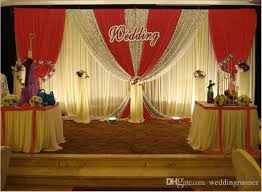 wedding backdrop canada 3m 6m white color silk wedding backdrop curtain with swag