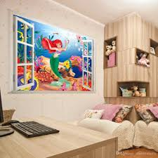 mermaid wall stickers for kids rooms window sticker art finding nemo pvc cartoon wall stickers decor art mural decal for girl room pcs lots wholesale high quality cheap sale nice gift