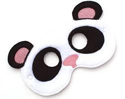 Panda Bear Halloween Costume Masquerade Mask Halloween Mask Panda Mask Panda Costume