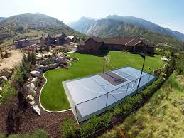 Backyard Basketball Court Awesome Mountain Home Backyard Basketball Court Landscape Salt