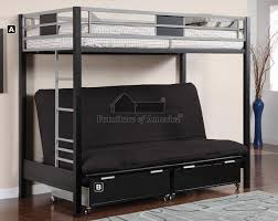 Buy Cletus  Twin Over Futon Bunk Bed Brooklyn Furniture Store - Half bunk bed