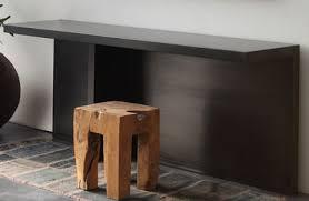 bureau en acier console atrium bureau métal l 170 x p 45 cm métal noir zeus
