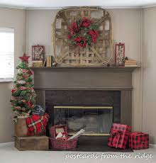 Halloween Decorations At Home Christmas Family Room Mantel With At Home Stores Postcards From
