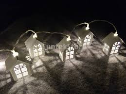 battery powered house lights 10 led battery operated home wedding house shape string l fairy