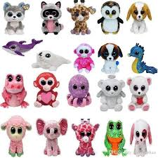 ty beanie boos plush stuffed toys 2017 wholesale big eyes animals