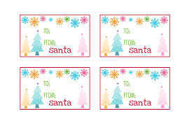 10 best images of printable tags from santa free printable gift