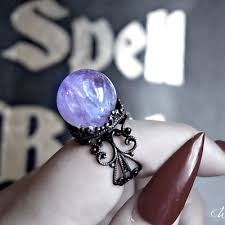 rings with crystal images Crystal ball rings worship13 llc online store powered by jpg