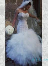 strapless curvy lace mermaid wedding dress with ruffles 2503676