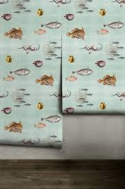 curious fish removable neutral green peel u0027n stick