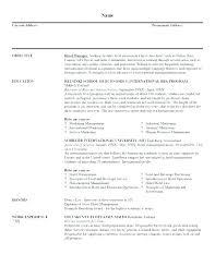 resume objective statement for restaurant management restaurant resume objective clerk resume objective best good