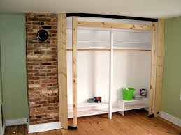 endearing closets in diy built then n built in closet framing and