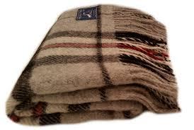 Brown Tartan Rug Wool Blanket Online British Made Gifts Grey Thompson Tartan Knee Rug