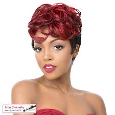 short wavy pixie hair chi it s a wig synthetic hair full wig short wavy pixie cut side