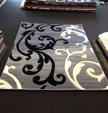 Designer Modern Rugs Stylish Black White Area Rug Exciting Gray And Transitional