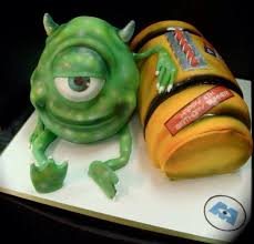 magnificent monsters inc cake between the pages
