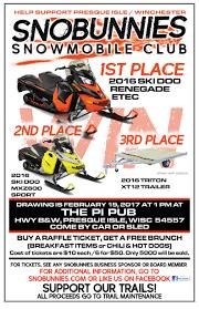 club news u2022 snobunnies snowmobile club