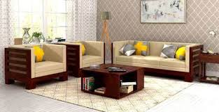 Wooden Sofa Sets For Living Room Sofa Sets Sofa Set At Low Prices In India