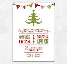 christmas invitations items similar to printable christmas invitation bunting