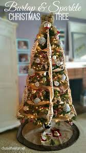 burlap and sparkle christmas tree