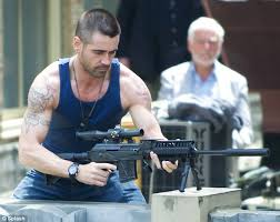 colin farrell brings his father to set of latest action film