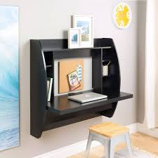 Space Saving Laptop Desk Modern Space Saving Wall Mounted Floating Laptop Desk In Black