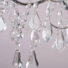 Crystal Glass Chandelier Vara 9 Light Bathroom Chandelier Chrome