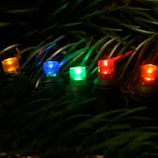 5mm multi led christmas light strings with 6 inch spacing