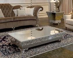 silver mirrored coffee table unique metal and glass coffee table thedigitalhandshake furniture
