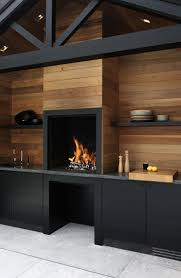 Kitchen Accessories Modern Fireplace Stained Concrete Floors