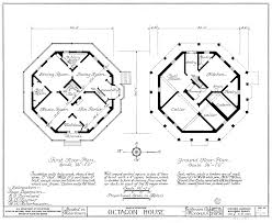 victorian blueprints octagon house plans octagon house floor plans http