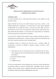 mi tierra restaurante con historia código de ética de la gastronomía modificado by lenin aroca issuu
