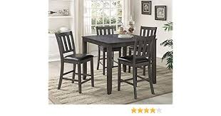 amazon counter height table 36 inch square kitchen table new amazon crown mark cosgrove 5pc