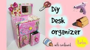 Cheap Desk Organizers by Diy Desk Organizer Cardboard Youtube
