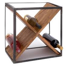 storage lovely sheet metal wood wine rack ideal for any decor high