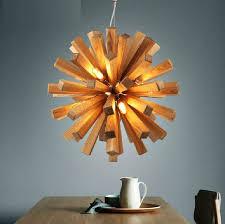 Wooden Chandelier Lighting Online Shop Sale Lustre Abajur Modern Art Wooden Chandelier