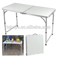foldable table adjustable height outdoor 4 foot aluminium folding portable cing picnic party