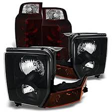 jeep commander black headlights amazon com jeep commander suv black headlights