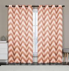 Orange Thermal Curtains Vcny Athens Blackout Window Curtains Grommet Thermal 2 Panel Set